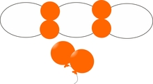 Balonek D5 dekorační 007 Orange