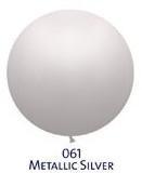 Obří metal. balónek - JUMBO - 061 SILVER