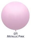 Obří metal. balónek - JUMBO - 071 PINK