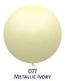 Obří metal. balónek - JUMBO - 077 IVORY - slonová kost