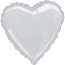 Balónky srdce Silver Metallic