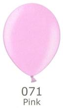 Balónek světle růžový metalický 071