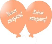 Balónek růžovo-zlatý Krásné narozeniny!