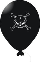 Piráti - balonek černý s potiskem