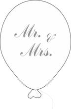 Balónek Mr. & Mrs. s šedým potiskem