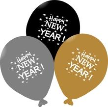 Balónky Happy New Year  mix 5 ks