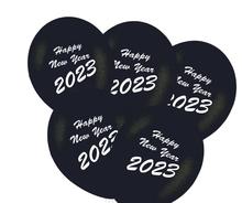 Balónky Happy New Year 2020 mix 5ks bílé a stříbrné balónky