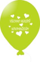 Balónky svatební - Apple Green 078 s bílým potiskem