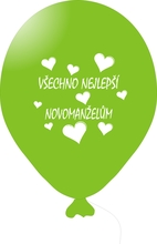 Balónky svatební - Lime Green 083 s bílým potiskem