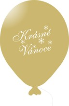 Vánoční balónky zlaté 1 ks