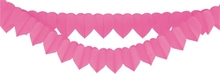 Girlanda srdce růžové 2ks