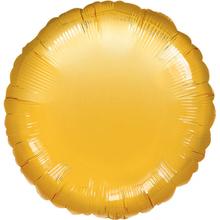 Balónek kruh Gold Metallic