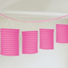 Lampionové girlandy růžové 3,65m