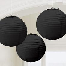 Lampiony černé 3 ks 24 cm