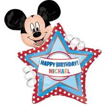 Mickey Mouse foliový balónek s písmenky 76cm x 60cm