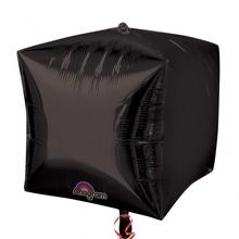 Foliový balónek kostka černá 38 cm