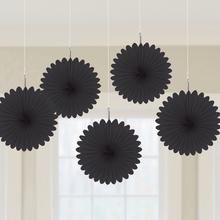 Závěsné dekorace černé 5 ks 15,2 cm