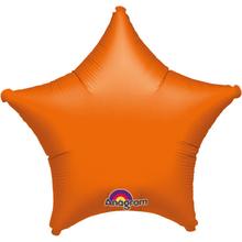 Balónek hvězda Orange Metallic