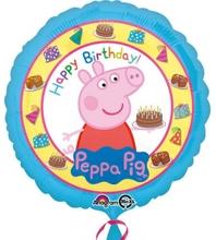 Prasátko Peppa šťastné narozeniny balónek 43cm