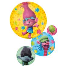 Foliový balónek Trollové velký 71cm x 55cm