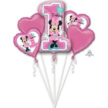 Minnie 1. narozeniny balónky sada 5 ks