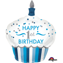 1. narozeniny balónek dort pro kluka 73 cm x 91 cm