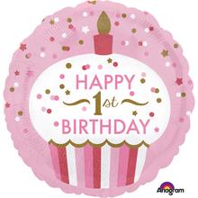 1. narozeniny balónek pro holku 43 cm