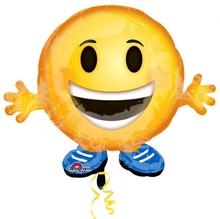 Smajlík Buddy foliový balónek 53cm x 45cm