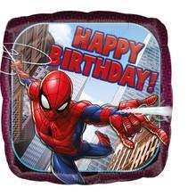 Spiderman foliový balónek šťastné narozeniny 43 cm