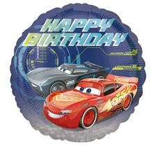Cars fóliový balónek šťastné narozeniny 43cm