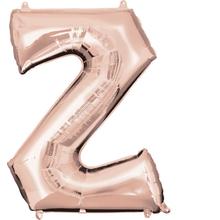 Písmeno Z růžovo-zlaté foliový balónek 83 cm