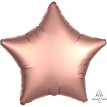 Balónek hvězda foliová satén Copper