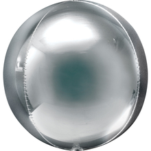 Foliový balónek stříbrná koule velká 53 cm x 53 cm