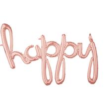happy balónek růžovo-zlatý 99 cm x 68 cm