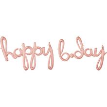 happy b.day balónek růžovo-zlatý 99 cm x 68 cm