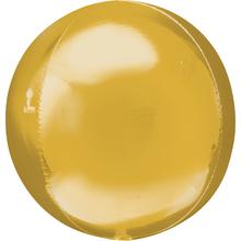 Foliový balónek zlatá koule velká 53 cm x 53 cm