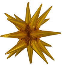 Hvězda zlatá 76 cm x 88 cm 3D fóliový balón