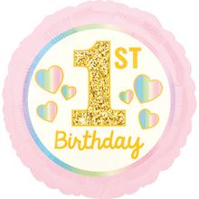 1. narozeniny balónek holka 42 cm