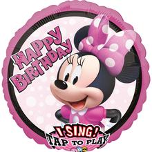 Minnie Mouse hrající balónek 71 cm x 71 cm