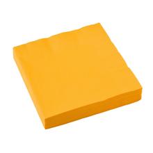 Ubrousky žluté 20 ks 33 cm x 33 cm 2-vrstvé
