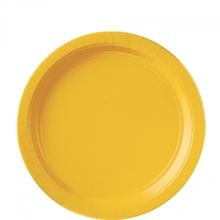 Talíře papírové Yellow 8ks 18cm