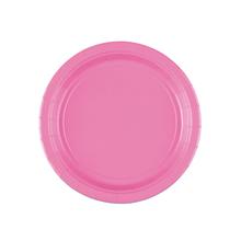 Talíře papírové růžové 8 ks 18 cm