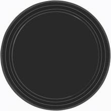 Talíře černé 8ks 23cm