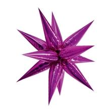 Hvězda růžová 100 cm 3D foliový balón