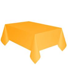 Ubrus žlutý dva v jednom - papír + PVC 137cm x 274cm