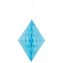 Závěsná dekorace diamant 35cm světle modrý