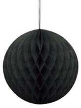 Papírová dekorace kulatá černá 20cm