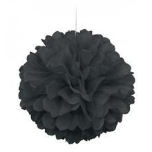 Papírová dekorace černá 40cm