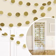 Závěsná dekorace zlatá s glitry 6 ks, 213 cm