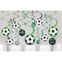 Fotbal závěsná dekorace 12 ks